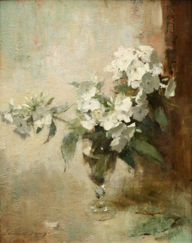 EDWARD SEAGO RWS RBA , (1910 - 1974), White Phlox, Signed and Inscribed Verso, Oil on Board, 20 x 16 inches / 51 x 40.6 cms, Provenance: P & D Colnaghi & Co. Ltd