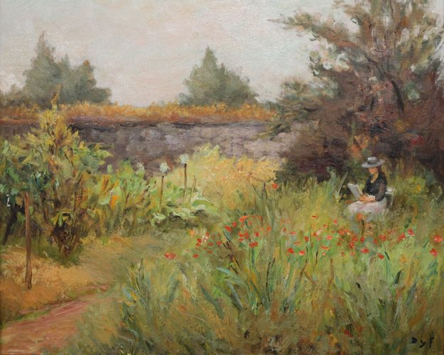 Marcel Dyf (1899 - 1985) 'Claudine in the Garden' Oil on Canvas, 18