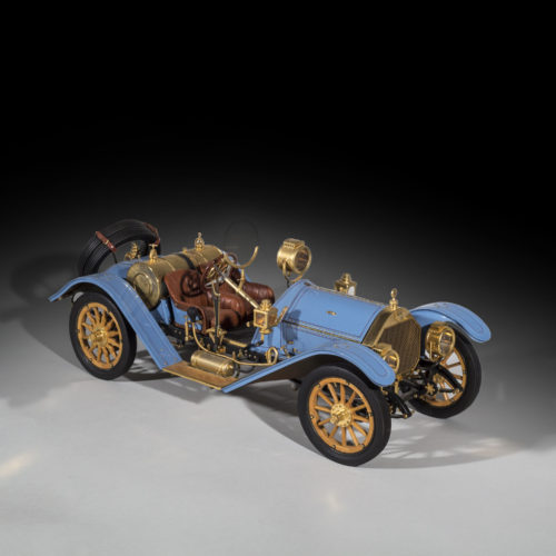 A very fine, limited edition 1/8 scale model of 1913 Mercer 35J Raceabout by Sapor Modelltechnik.