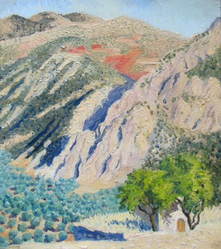 Frederick Gore CBE RA The Olive Grove oil on canvas signed
