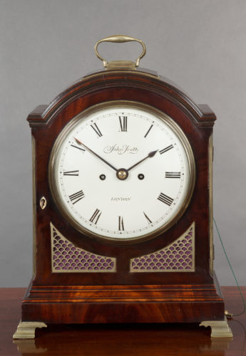 Georgian Mahogany Bracket Clock by John Scott, London. c.1790