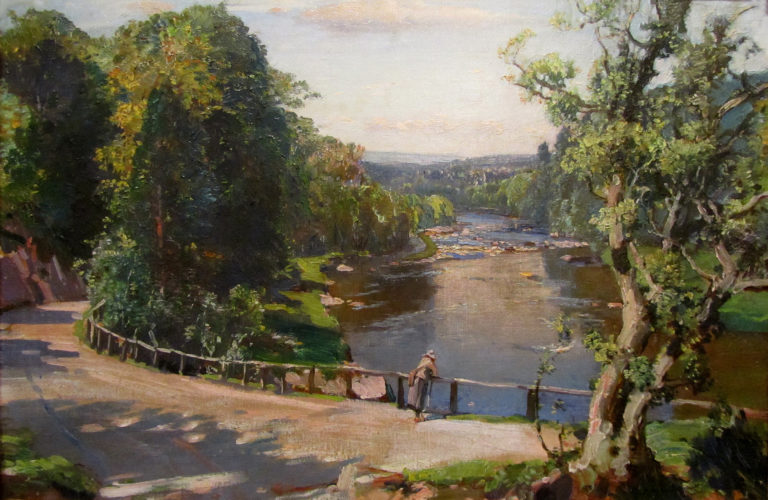 Samuel John Lamorna Birch RA, RWS, RWA (1869 - 1955), The Gorge from Tillyfourie Gates on the Don, oil on canvas, signed