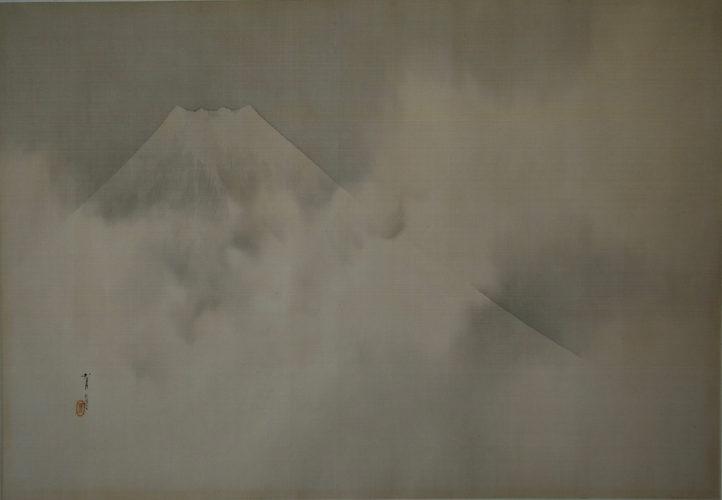 Watanabe Seitei (1851-1918) Mount Fuji Inks on Silk c.1890 49cm x 70cm