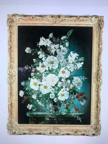 Cecil Kennedy, Oil on canvas, An Arrangement in White.
