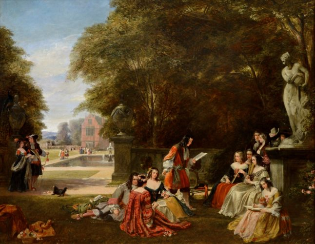 'Summerhill, Time of Charles II' by James Digman Wingfield