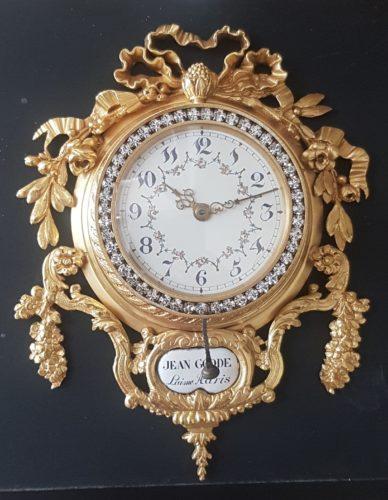 Quarter repeating Cartel timepiece by Jean Goode L'aine, Paris. c1900.