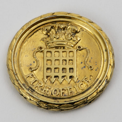 18th century silver-gilt Director's Pass for the Westminster Fire Office.