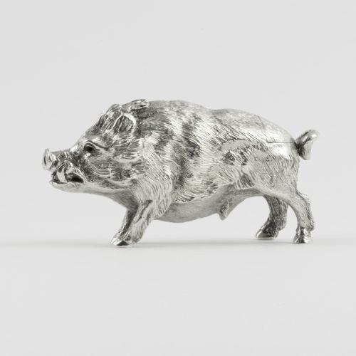 Victorian silver Pepper pot in the shape of a Boar.